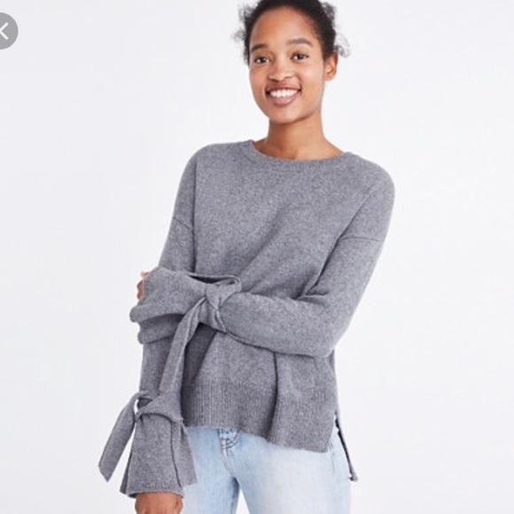 ff80cc732a625c Madewell Sweaters | Tie Sleeve Sweater | Poshmark